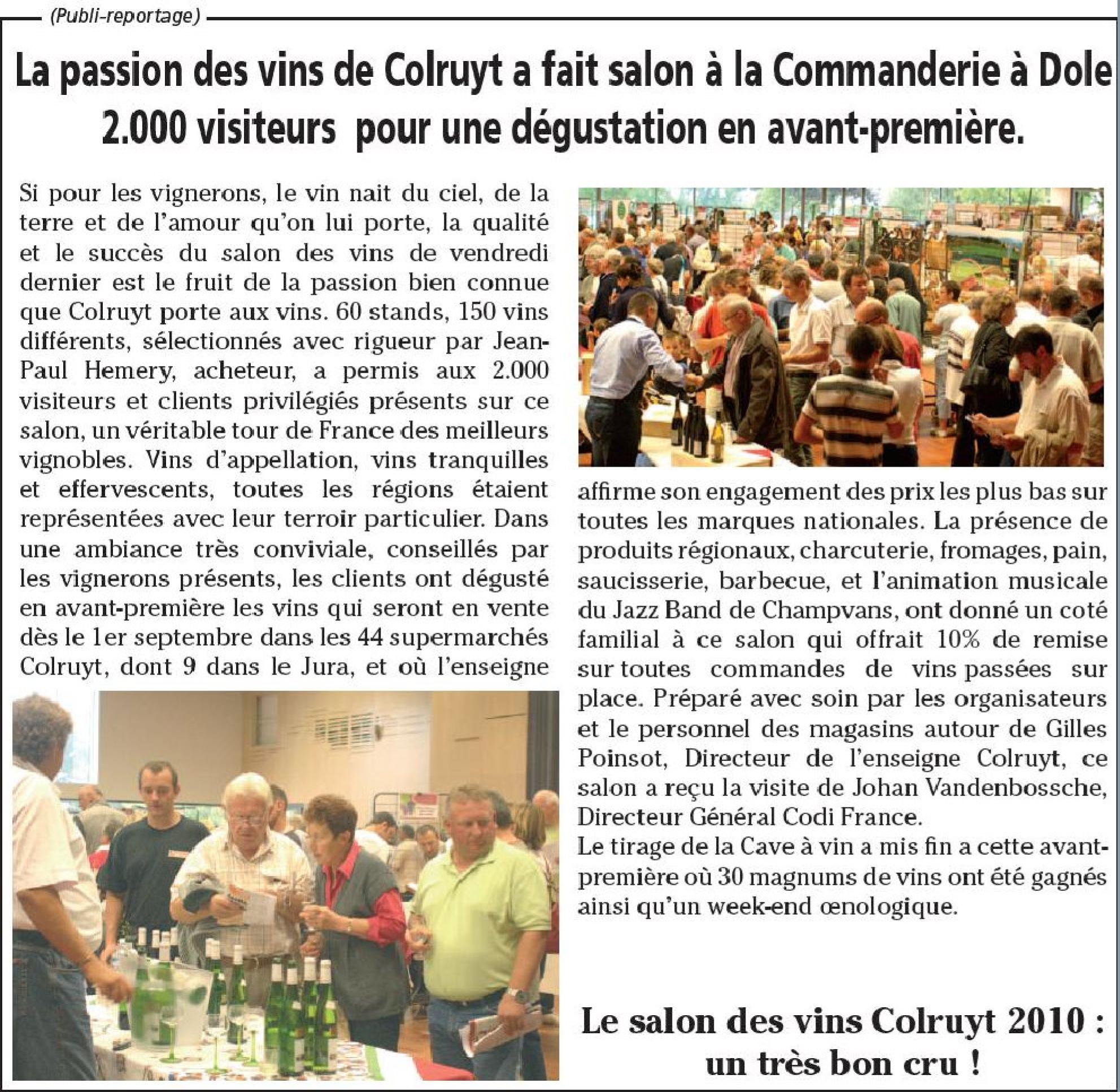 Salon des vins colruyt chez codifrance distribution for Salon des vins de france